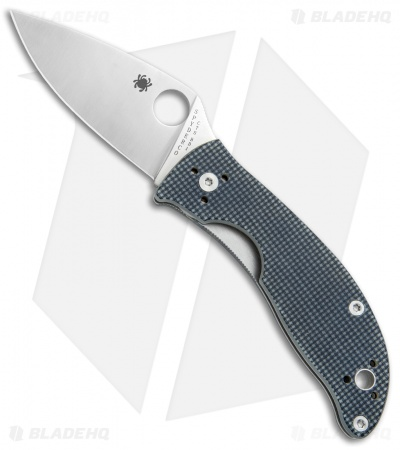 "Spyderco Alcyone Liner Lock Knife Gray G-10 (2.75"" Satin) C222GPGY"