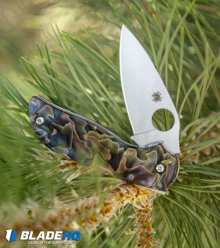 Spyderco Chaparral Folding Knife Raffir Noble Brass