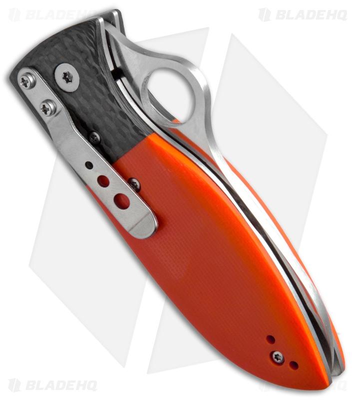 Spyderco Firefly Liner Lock Knife Orange G10 Carbon Fiber
