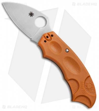"Spyderco Meerkat Sprint Run Knife Burnt Orange FRN (2"" Satin HAP40) C64JPBORE"