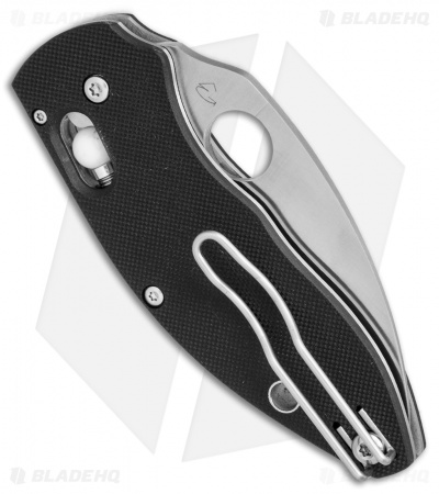 "Spyderco Q Ball Bearing Lock Knife  Black G-10 (2.72"" Satin) C219GP"