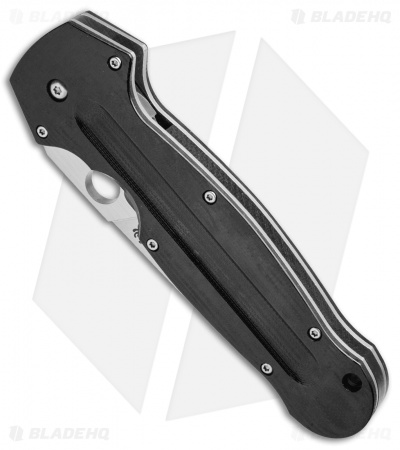 "Spyderco Schempp EuroEdge Liner Lock Knife Black G-10 (3.9"" Satin) C215GP"