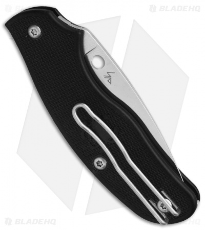 "Spyderco Spy-DK Slip-Joint Knife Black FRN (2.69"" Satin) C179PBK"