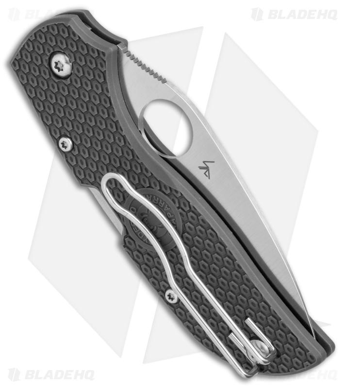Spyderco Chaparral Lightweight Lockback Knife Gray FRN (2 8