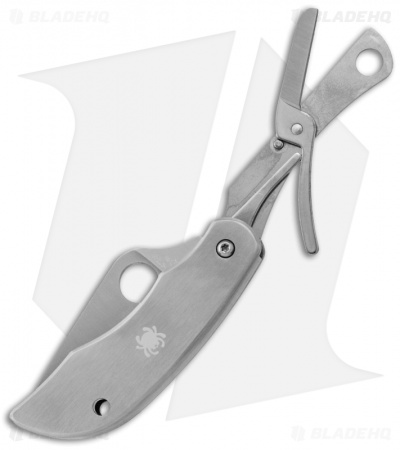 "Spyderco ClipiTools Scissors Multi-Purpose Knife (2"" Satin) C169P"