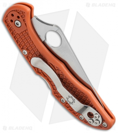 Spyderco Delica 4 Lightweight Knife Burnt Orange (HAP40) C11FPBORE Sprint Run
