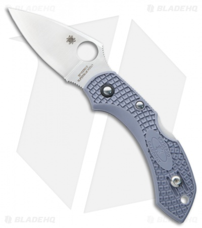 "Spyderco Dragonfly 2 Aogami Super Blue Knife Gray FRN (2.25"" Satin) C28FPGYE2"