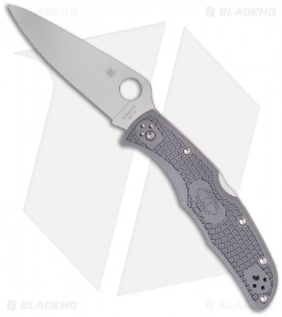 "Spyderco Endura 4 Knife Flat Ground Gray FRN (3.75"" Satin Plain) C10FPGY"