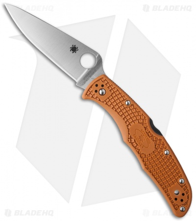 Spyderco Sprint Run Endura 4 Lightweight Knife Burnt Orange FRN C10FPBORE