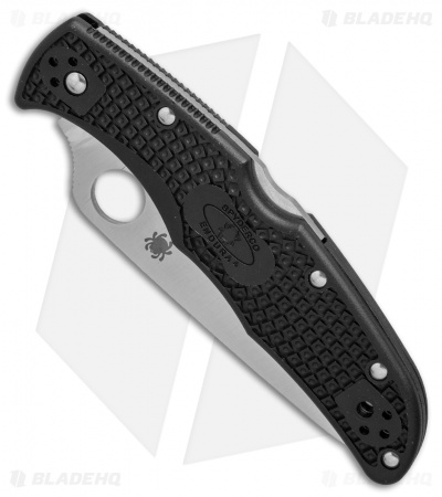 "Spyderco Endura 4 Knife Flat Ground Black FRN (3.75"" Satin Plain) C10FPBK"