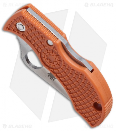 "Spyderco ManBug Sprint Run Lightweight Burnt Orange FRN (1.95"" Satin) MBORPE"