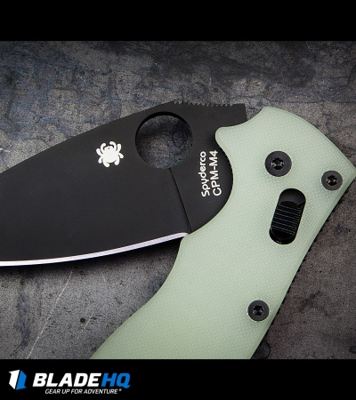 "Spyderco Manix 2 M4 Natural G-10 Knife (3.375"" Black) C101GM4PBK2 Exclusive"