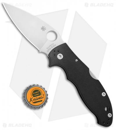 "Spyderco Manix 2 Back Lock Knife Black G10 (3.375"" S30V Satin) C101MBGP2"