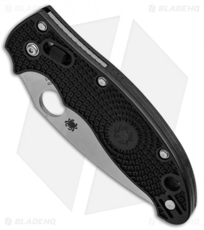 "Spyderco Manix 2 Knife Black 86mm (3.37"" Satin CTS-BD1) C101PBK2"