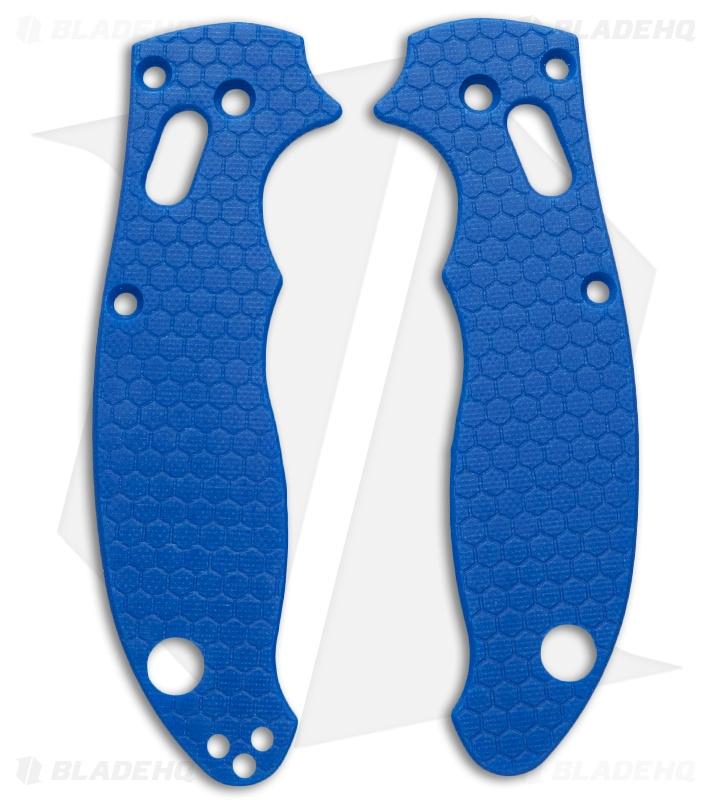 Spyderco Manix 2 Custom Honeycomb Pattern G10 Scales Allen Putman (Blue)