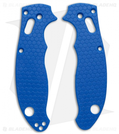 Spyderco Manix 2 Custom Honeycomb Pattern G10 Scales Allen Putman (Blue)