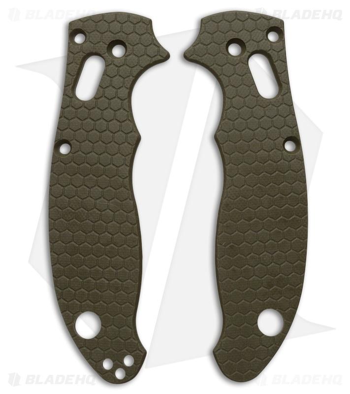 spyderco manix 2 custom honeycomb pattern g10 scales allen putman