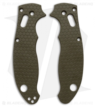 Spyderco Manix 2 Custom Honeycomb Pattern G10 Scales Allen Putman (OD Green)