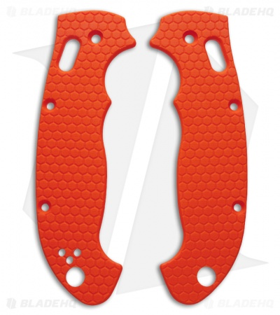 Spyderco Manix 2 XL Custom Honeycomb Pattern G10 Scales Allen Putman (Orange)