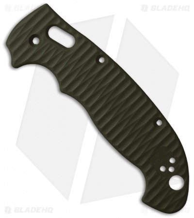 Allen Putman Spyderco Manix 2 XL Custom Sculpted G10 Replacement Scales OD Green