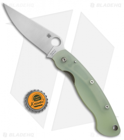 Spyderco M4 Military Knife Natural G-10 + FREE Squarehead Folder Bundle