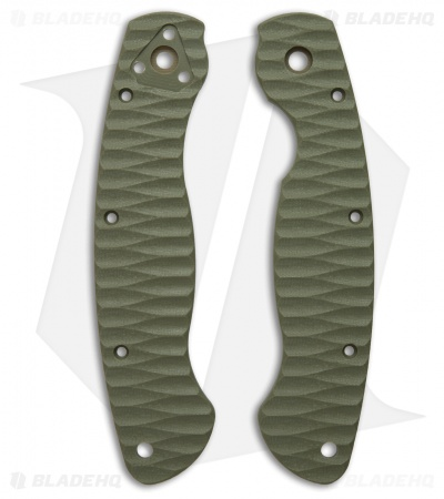 Spyderco Military Custom G-10 Replacement Scales by Allen Putman (OD Green)