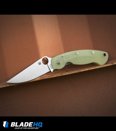 "Spyderco M4 Military Knife Natural G-10 (4"" Satin) C36GM4P Exclusive"