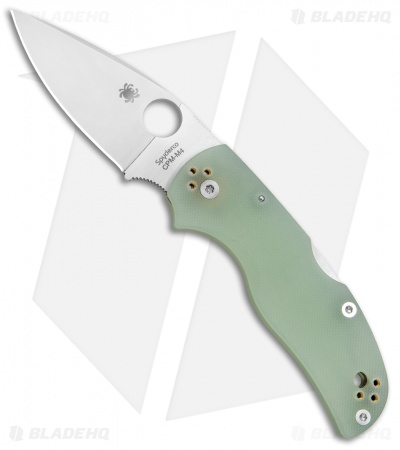 "Spyderco M4 Native 5 Lockback Knife Natural G-10 (3"" Satin) C41GM4P5 Exclusive"