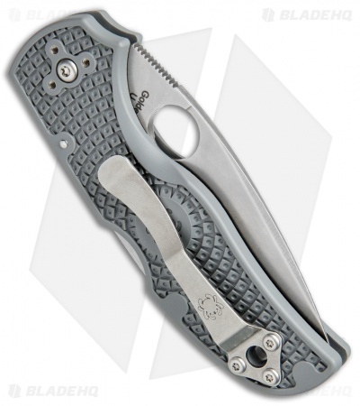 "Spyderco Native 5 Lightweight Lockback Knife Gray FRN (3"" Satin Maxamet) C41PGY5"