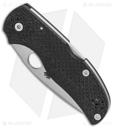 "Spyderco Native 5 Knife Fluted Carbon Fiber (3"" Satin CPM-S90V) C41CFFP5"
