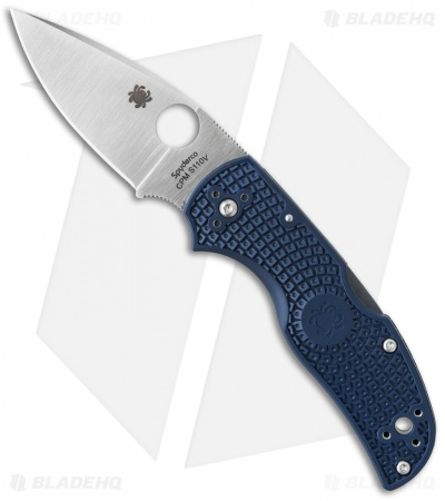 "Spyderco Native 5 Lightweight Knife Dark Blue FRN (3"" Satin CPM-S110V) C41PDBL5"