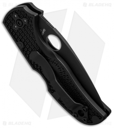"Spyderco Native 5 Lightweight S35VN Lockback Knife FRN (3"" Black Serr) C41PSBBK5"