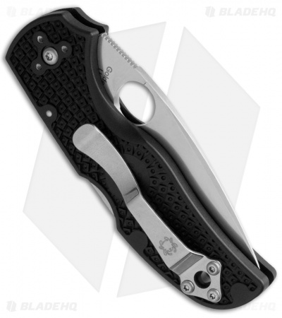"Spyderco Native 5 Lightweight S35VN Knife FRN (3"" Satin Full Serr) C41SBK5"