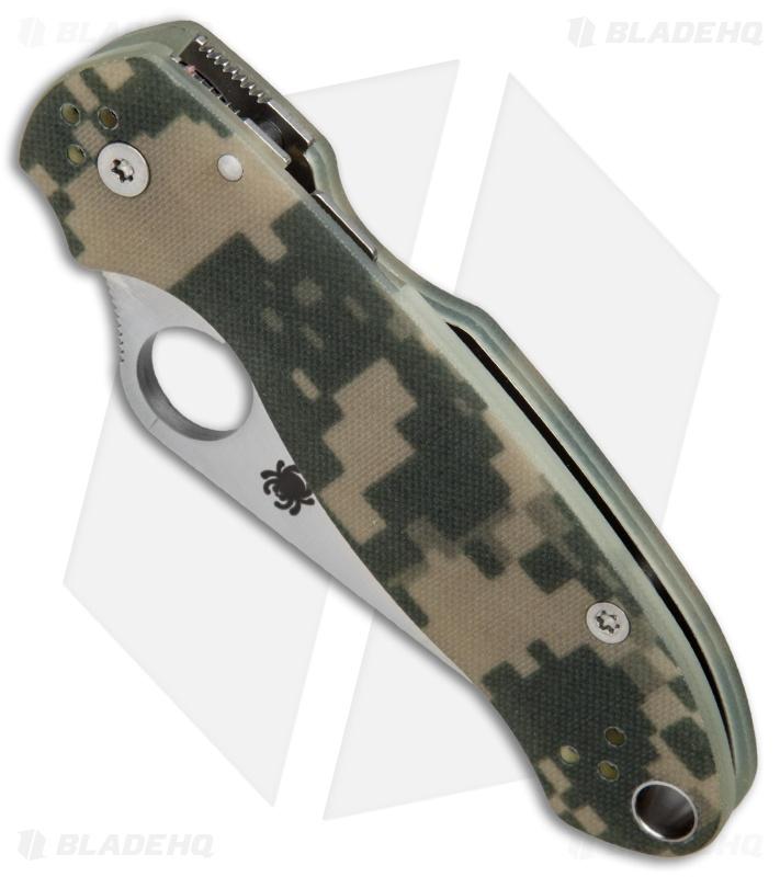 Spyderco Para 3 Compression Lock Knife Digi Camo G-10 (3