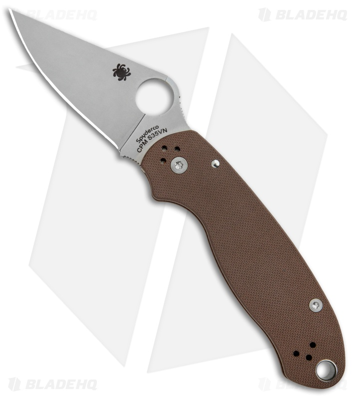 Spyderco Para 3 Sprint Run Compression Lock Knife Brown G-10 (3