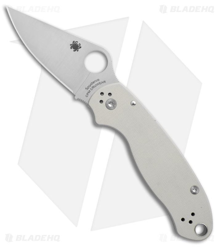 Spyderco Para 3 Sprint Run Knife Gray G-10 (3