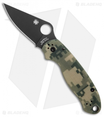 "Spyderco Para 3 Compression Lock Knife Digi Camo G-10 (3"" Black) C223GPCMOBK"