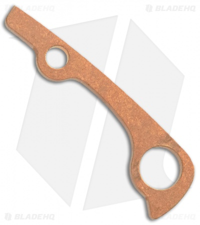 Flytanium Custom Copper Backspacer for Spyderco Paramilitary 2 - Stonewash