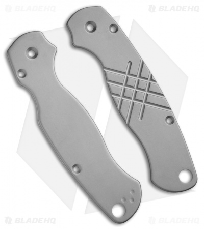 Flytanium Custom Titanium Scales for Spyderco Paramilitary 2 Knife - BB Grooved