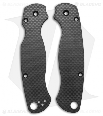 Flytanium Custom Carbon Fiber Scales for Spyderco Paramilitary 2 Knife