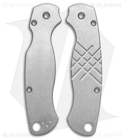 Flytanium Custom Titanium Scales for Spyderco Paramilitary 2 Knife - SW Grooved