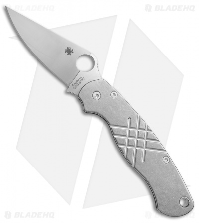Spyderco Paramilitary 2 Knife + Flytanium Grooved Titanium Scales (Satin)