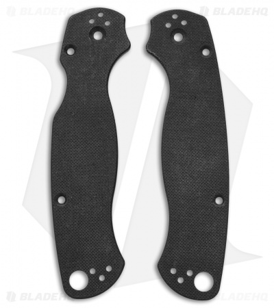 "Spyderco Paramilitary 2 w/Putman Micarta (3.44"" Black) *Collection*"