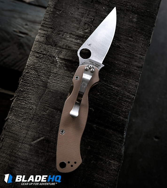 Spyderco Paramilitary 2 Knife Brown G-10 (3 44