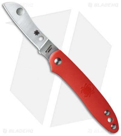 "Spyderco Roadie Slip Joint Knife Red FRN (2.1"" Satin) C189PRD"