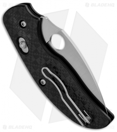 "Spyderco Sage 3 Bolt Action Knife Carbon Fiber/G-10 (3"" Satin) C123CFBAP"