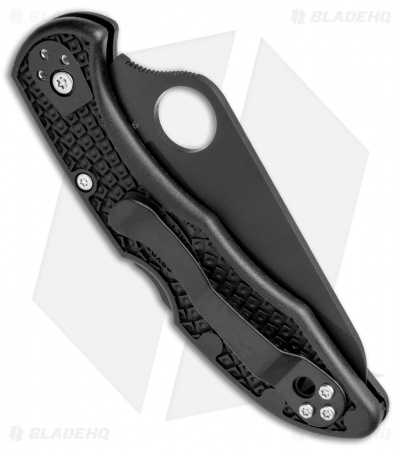 "Spyderco Salt 2 Lock Back Knife Black FRN (3"" Black Full Serr) C88SBBK2"