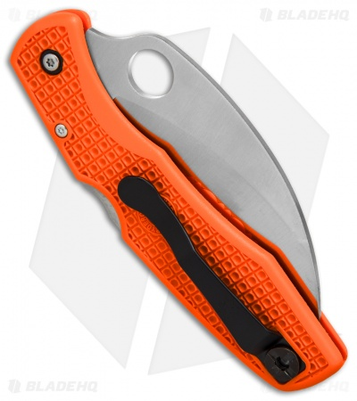 "Spyderco SpyderHawk Salt Sprint Run Knife Orange FRN (3.6"" Satin Serr) C77SOR"