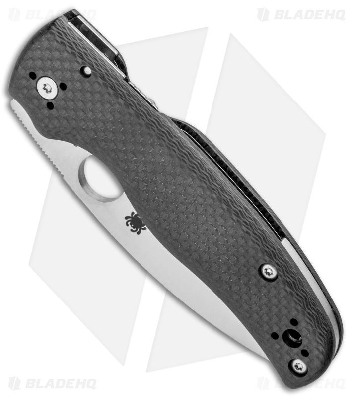 Spyderco Shaman Sprint Run Compression Lock Knife Carbon Fiber (3 6