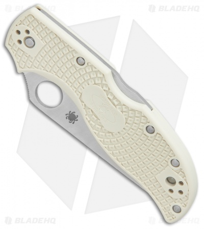 "Spyderco Stretch 2 Sprint Run Lockback Knife Ivory FRN (3.4"" Satin) C90FPIV2"